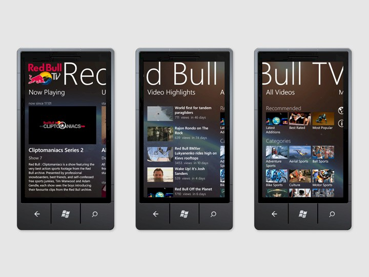 Red Bull TV · App for Windows Phone 7