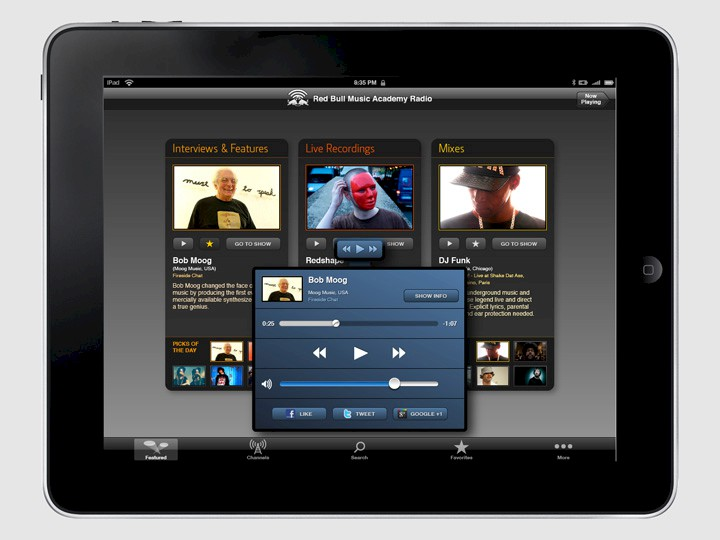Red Bull Music Academy Radio · App for iPad