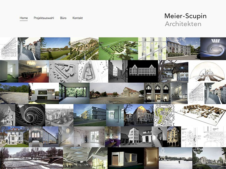 Meier-Scupin Architekten Website