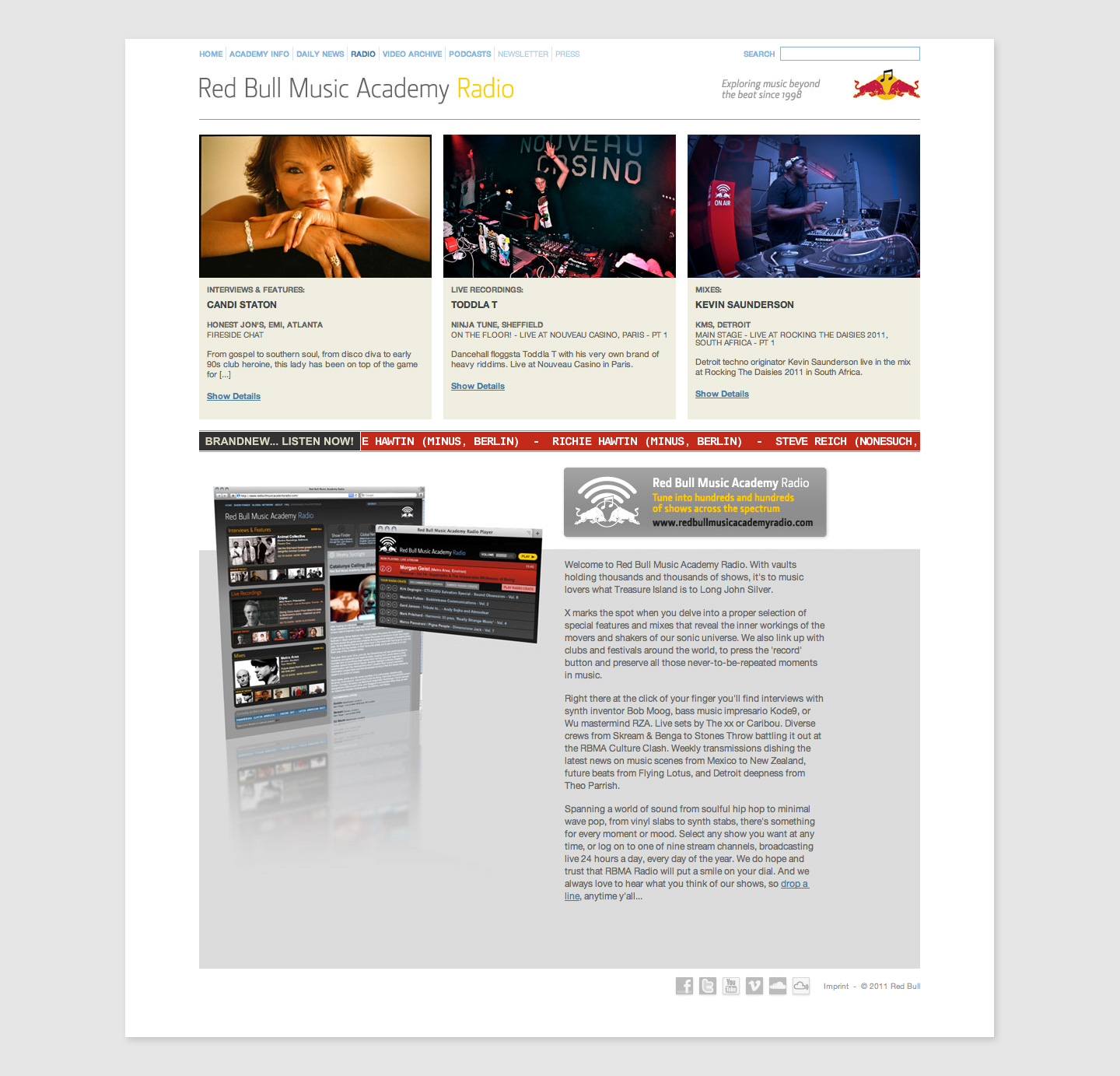 Red Bull Music Academy Website