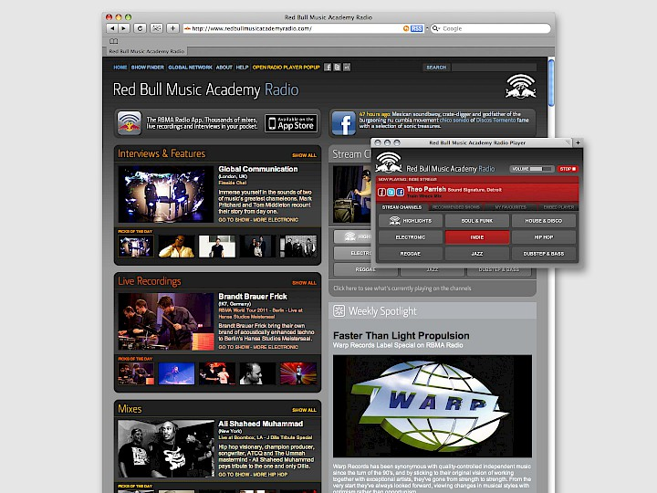 Red Bull Music Academy Radio · Relaunch 2009