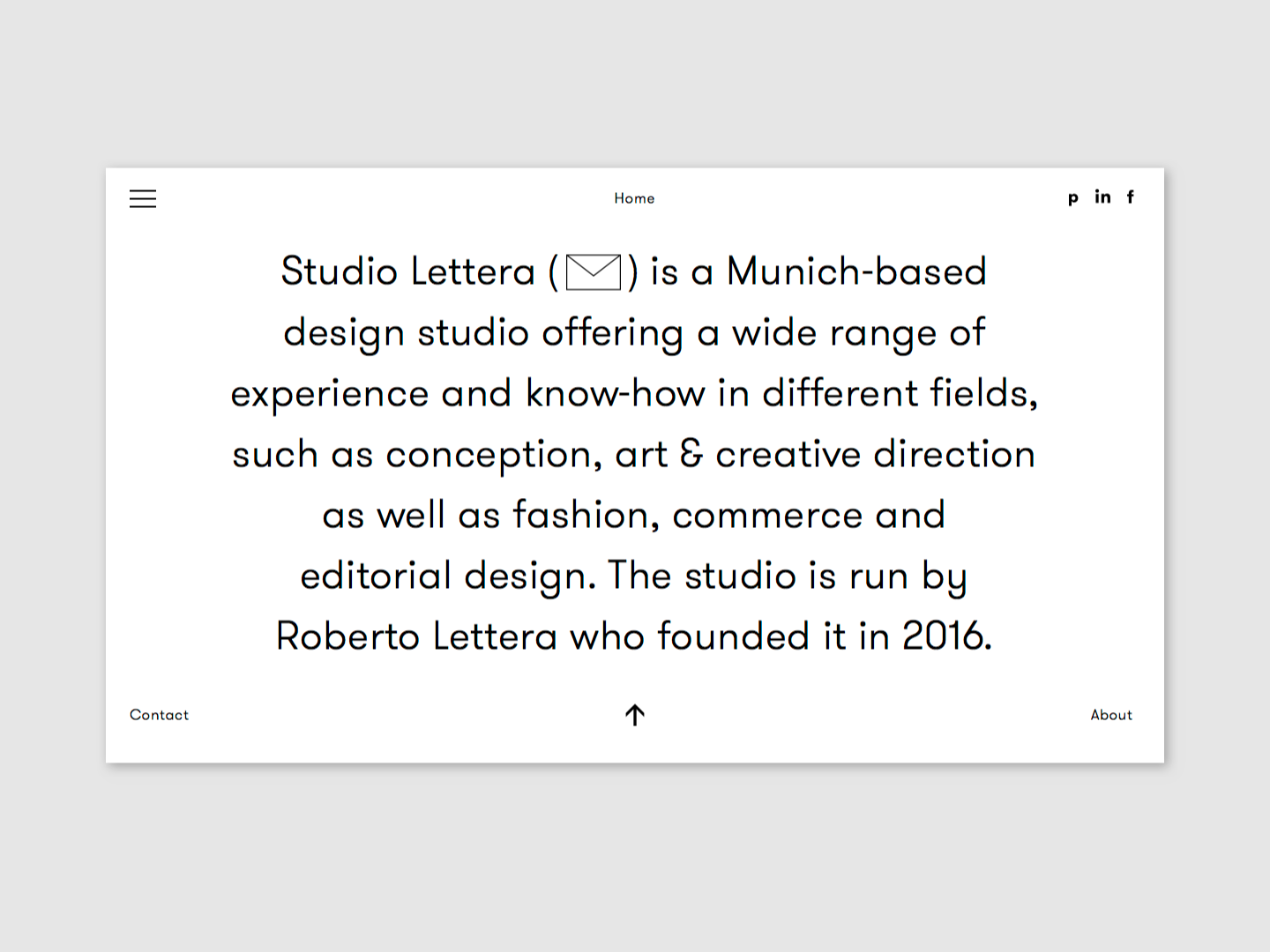 Website Studio Lettera